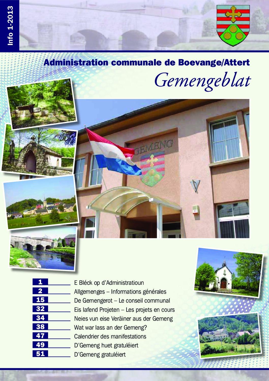 Béiwener Gemengeblat 2013-01
